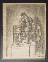 Image of [Lincoln Monument Crying] - Mauldin, Bill, 1921-2003